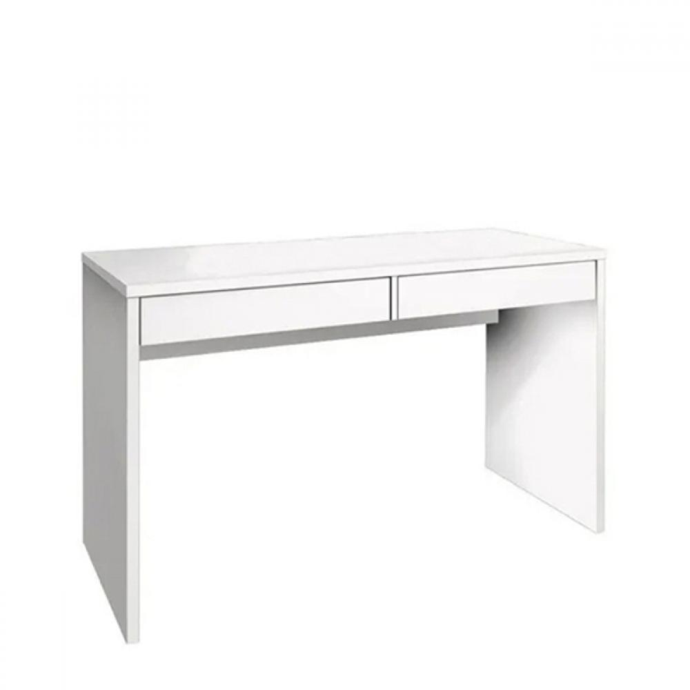 Mesa Para Computador Com 2 Gavetas Max Branco