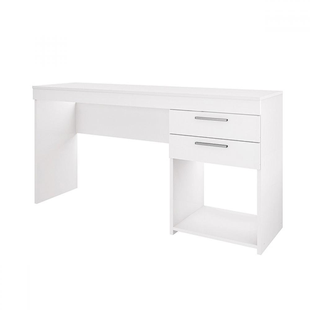 Escrivaninha Mesa Para Computador 2 Gavetas Office Branco